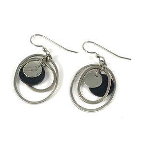 Beautiful Silver Tone Dangle Earrings
